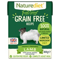 Naturediet Feel Good Grain Free Wet Food for Adult Dogs (Lamb) big image
