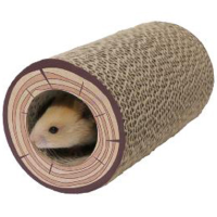 Boredom Breaker Shred-A-Log Corrugated Tunnel for Small Animals big image