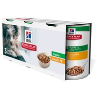 Hills Science Plan Canine Puppy Food 3 x 370g Tins (Chicken Trial Pack) big image