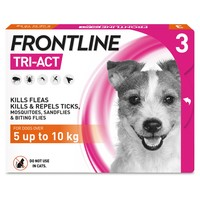 FRONTLINE Tri-Act Flea and Tick Treatment for Small Dogs (3 Pipettes) big image