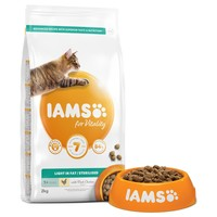 Iams for Vitality Light in Fat/Sterilised Adult Cat Food (Fresh Chicken) big image