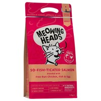 Meowing Heads Complete Adult Dry Cat Food (So-fish-ticated Salmon) big image