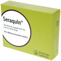 Seraquin for Cats and Small Dogs 800mg Tablets 60 Tablet Box big image