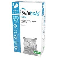 Selehold 45mg Spot-On Solution for Cats (3 Pipettes) big image