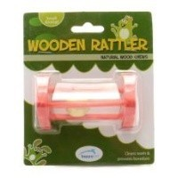 Wooden Rattler Triangle Wooden Chew for Small Animals big image