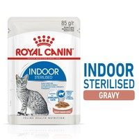 Royal Canin Indoor Sterilised Adult Wet Cat Food in Gravy big image