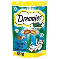 Dreamies Mix Flavoured Cat Treats with Turkey & Salmon 60g big image