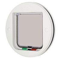 Cat Mate Glass Fitting Cat Flap White 210 big image