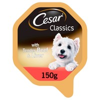 Cesar Classics Adult Wet Dog Food Trays in Loaf (Beef & Liver) big image