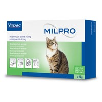 Milpro 16mg/40mg Worming Tablets for Cats big image