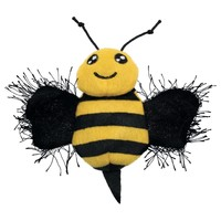 KONG Better Buzz Bee Cat Toy big image