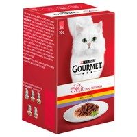Purina Gourmet Mon Petit Wet Cat Food Pouches (Beef, Chicken & Lamb) big image