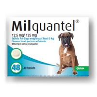 Milquantel 12.5mg/125mg Tablets for Dogs big image