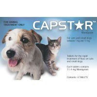 Capstar for Small Dogs and Cats Flea Tablets big image