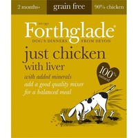 Forthglade Just Chicken with Liver Grain Free Dog Food (18 x 395g) big image