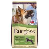 Burgess Sensitive Adult Dog Food (Lamb & Rice) big image