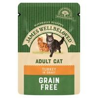 James Wellbeloved Adult Cat Grain Free Wet Food Pouches (Turkey) big image
