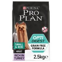 Purina Pro Plan OptiDigest Grain Free Small & Mini Adult Dog Food (Turkey) 2.5kg big image