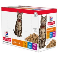 Hills Science Plan Adult Cat Food Pouches (Favourite Selection) big image