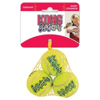 Air Kong Three Small Breed Squeaker Tennis Balls big image