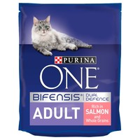 Purina One Adult Cat Food (Salmon & Whole Grains) big image