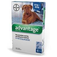 Advantage 400 for Dogs 4 Pipettes big image