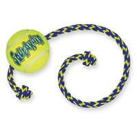 Air Kong Squeaker Tennis Ball with Rope big image