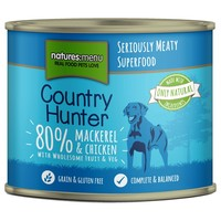Natures Menu Country Hunter Dog Food 6 x 600g Cans (Mackerel and Chicken) big image