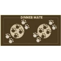 Pet Rebellion Dinner Mate Brown Mat 40 x 60cm big image