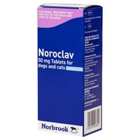 Noroclav 50mg Tablets for Dogs and Cats big image