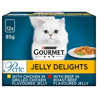 Purina Gourmet Perle Jelly Delight Wet Cat Food (Meat Selection) big image