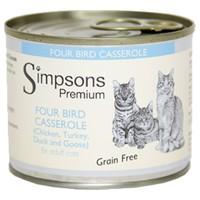 Simpsons Premium Adult Wet Cat Food (Four Bird Casserole) big image