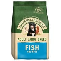 James Wellbeloved Adult Dog Large Breed Dry Food (Fish & Rice) 15kg big image