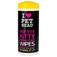 Pet Head Pretty Kitty Deshedding Wipes for Cats (50 Wipes) big image