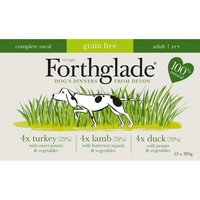 Forthglade Complete Meal Grain Free Dog Food Multipack (Turkey/Duck/Lamb) big image
