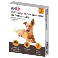 VetUK 100mg Imidacloprid Flea Treatment for Dogs 4 - 10kg (3 Pipettes) big image