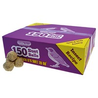 Unipet Suet to Go Insect Suet Balls (150 Pack) big image