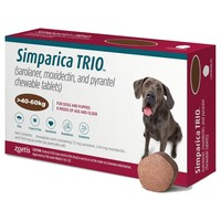 Simparica Trio Chewable Tablets for Dogs (40 - 60kg) big image