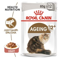 Royal Canin Ageing 12+ Pouches in Gravy Senior Cat Food big image