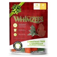 Whimzees Christmas Assorted Dog Treats big image