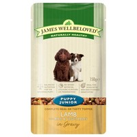 James Wellbeloved Pouches for Puppy/Junior Dogs (Lamb & Rice) big image