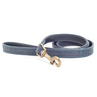 Ancol Timberwolf Leather Dog Lead (Blue) big image