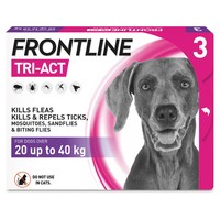 FRONTLINE Tri-Act Flea and Tick Treatment for Large Dogs (3 Pipettes) big image