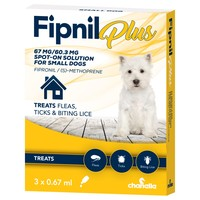 Fipnil Plus Spot-On Solution for Small Dogs (3 Pipettes) big image