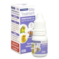 Ivermectin 0.1% Drops for Small Ornamental Birds 10ml big image