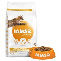 Iams for Vitality Hairball Reduction Adult Cat Food (Fresh Chicken) big image