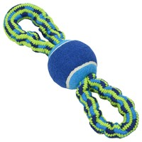 Buster Bungee Double Handle Rope Toy with Tennis Ball big image