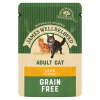 James Wellbeloved Adult Cat Grain Free Wet Food Pouches (Lamb) big image