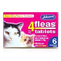 Johnsons 4Fleas Cat and Kitten Tablets big image