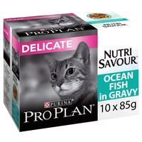 Purina Pro Plan NutriSavour Delicate Adult Cat Wet Food Pouches (Ocean Fish) big image